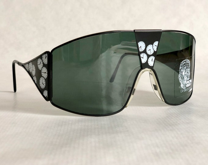 """Alpina Talking Glasses """"Time is Tight"""" Vintage Sunglasses NOS including Original Packaging"""