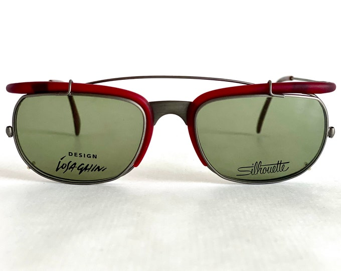 Vintage 1991 Massimo Iosa Ghini for Silhouette M9710 Clip-On Sunglasses – New Old Stock – Made in Austria