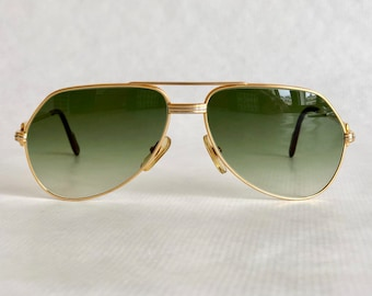e3e192c8d7 Cartier Vendôme Louis Cartier 22k Gold Vintage Sunglasses – Including  Leather Soft Case