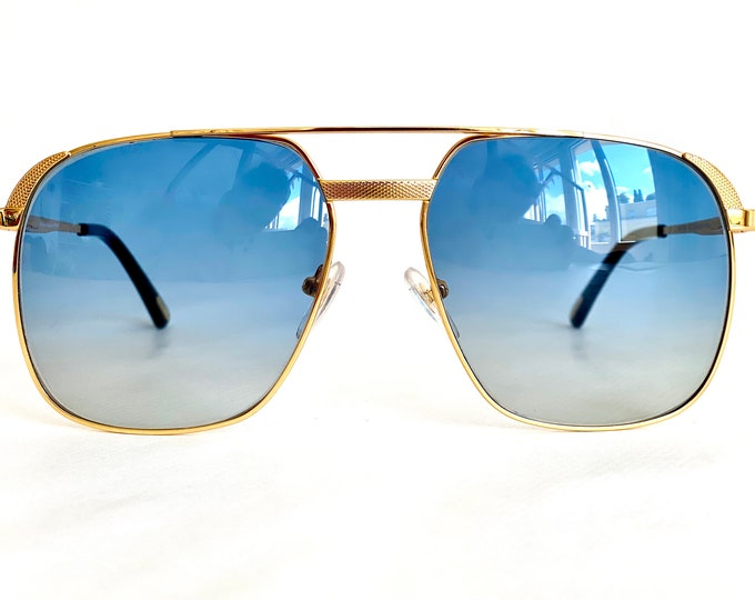 Hilton 24K Gold Plated Class 010 Sunglasses – New Old Stock – Made in Italy – Including New Hilton Case