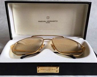db911abed3d Pascal Morabito 24K Gold Plated Vintage Sunglasses including Case - NOS  from 1983