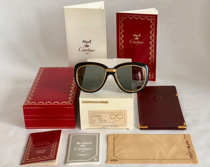 Cartier Conquête Vintage Sunglasses - Full Set - New Old Stock