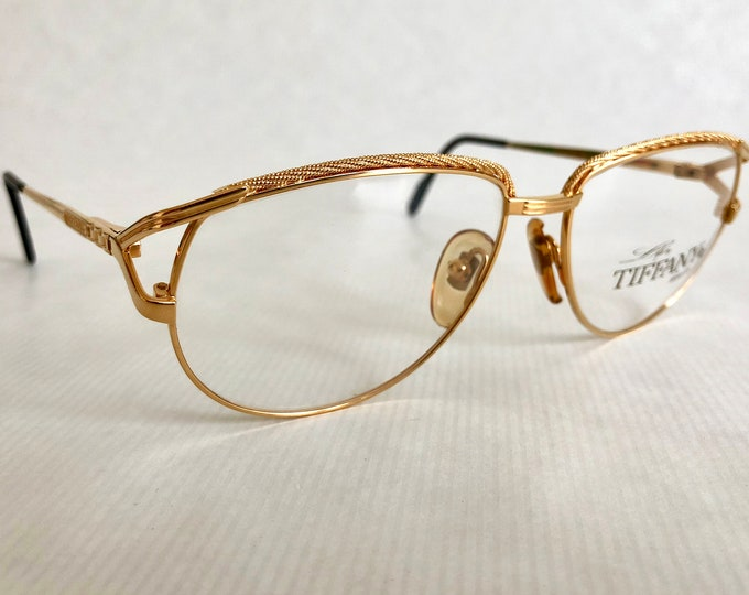 Tiffany T312 Vintage Glasses - 23Kt Gold Plated - New Old Stock