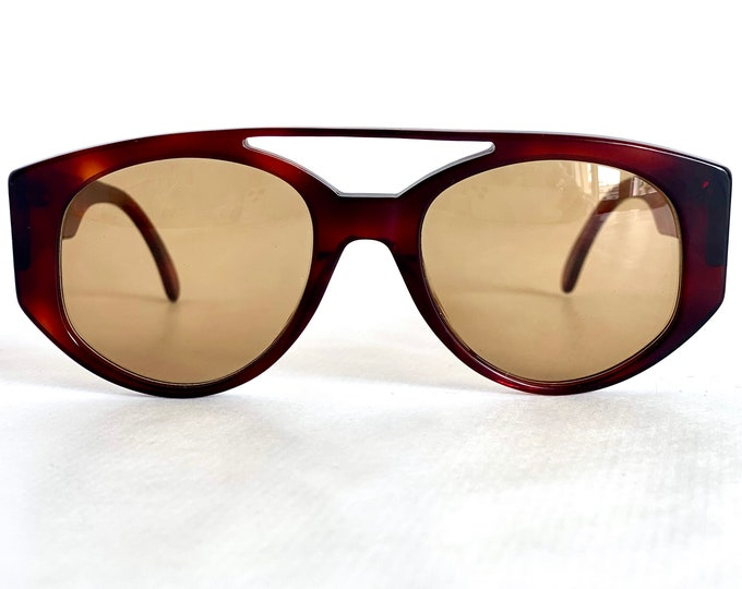 Vintage 1980s Monica Vitti MV 1S Sunglasses – Made in Italy – New Old Stock
