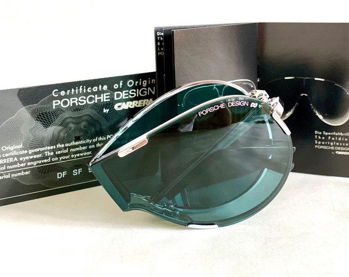 Vintage Porsche Design by Carrera 5629 70 Folding Shield Sunglasses – Full Set – New Old Stock