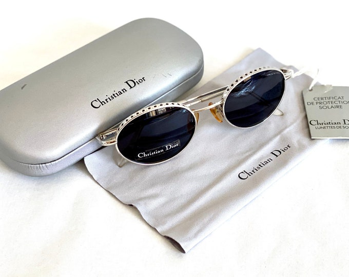 Christian Dior Edith Vintage Sunglasses – Full Set – New Old Stock – Made in Austria in 1995