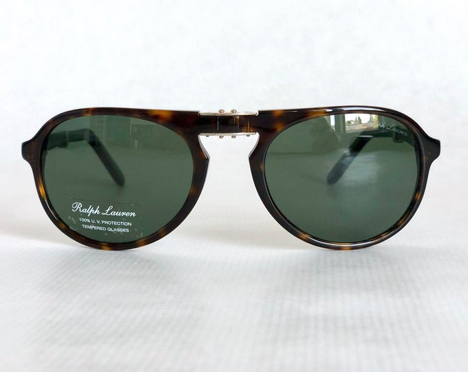 Ralph Lauren PL 9757 Folding Vintage Sunglasses New Old Stock Full Set