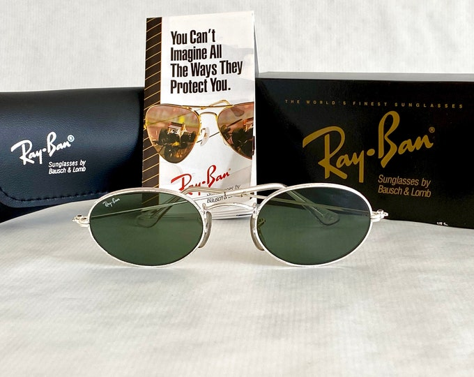 Ray-Ban by Bausch & Lomb Classic Style 1 Vintage Sunglasses – New Old Stock – Full Set