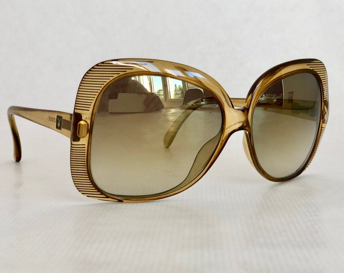Playboy 4527 Vintage Sunglasses New Old Stock with Gradient Gold Mirror Lenses