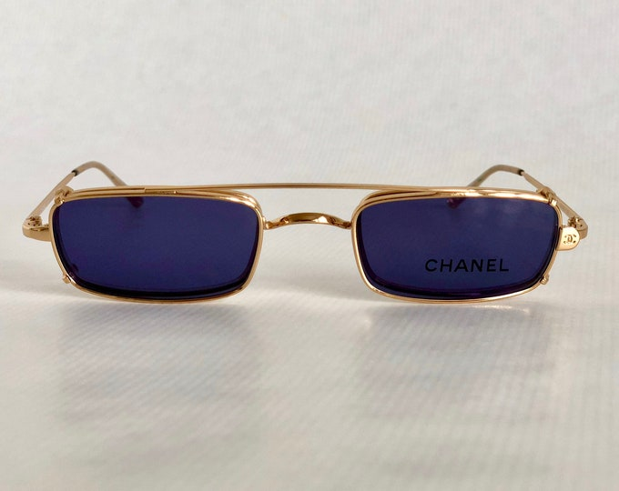 CHANEL 2038 C 191 Clip-On Vintage Sunglasses New Old Stock including Box