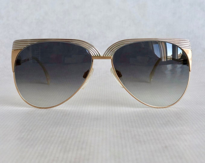 Jean R. Cleopatra 22k Gold Plated Vintage Sunglasses – Made in West Germany – New Old Stock