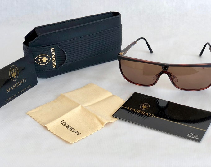 Maserati Carbolite® 612305 Vintage Sunglasses – Full Set – New Old Stock – Made in France