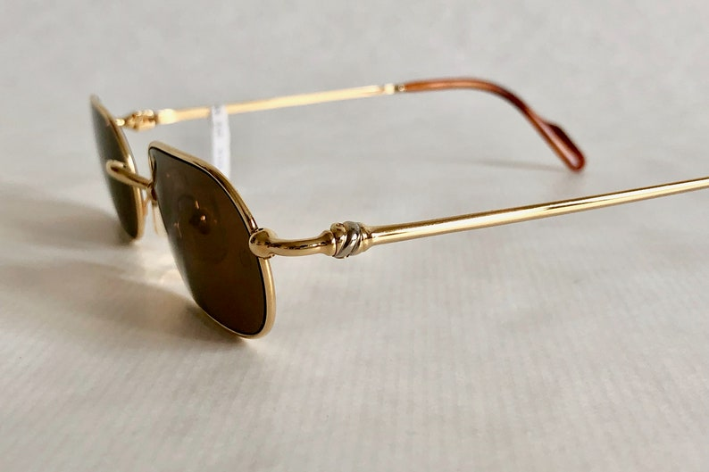 8c5c1ac0ae1d Cartier Deimos Trinity 22K Gold Vintage Sunglasses Full Set