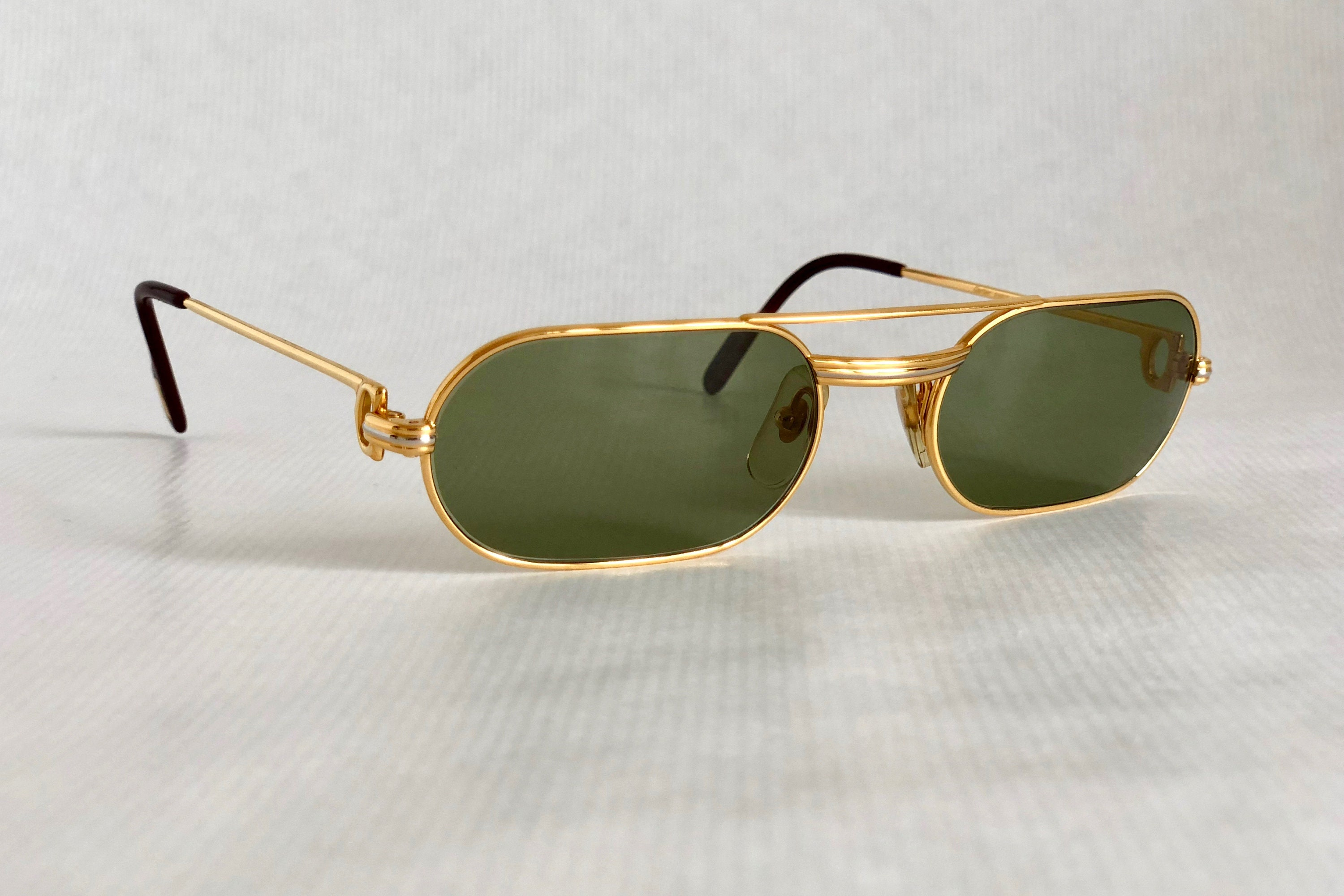 0b41a29f02 Cartier Must Louis Cartier 18K Gold Vintage Sunglasses Full Set New Old  Stock. gallery photo ...