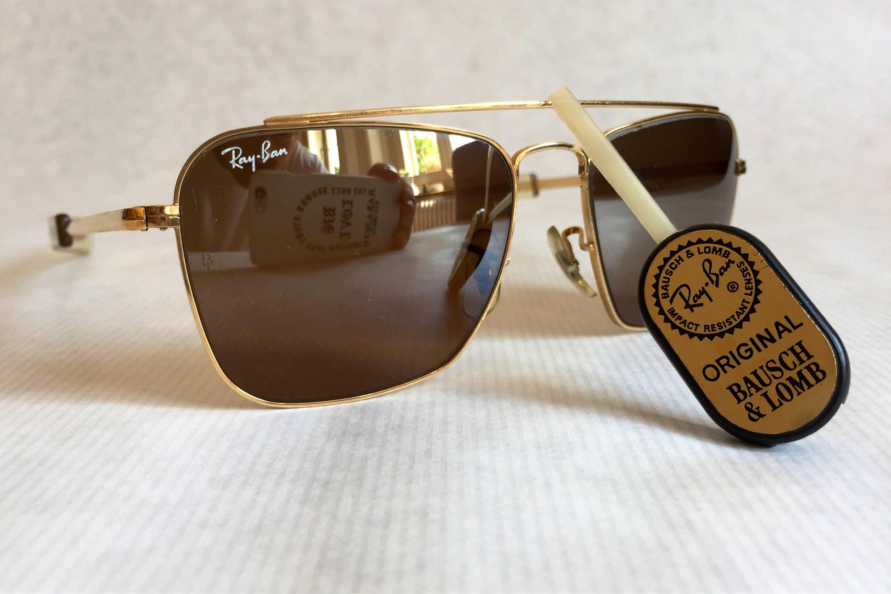 5f682539ca3 Ray-Ban Caravan by Bausch   Lomb Vintage Sunglasses including ...