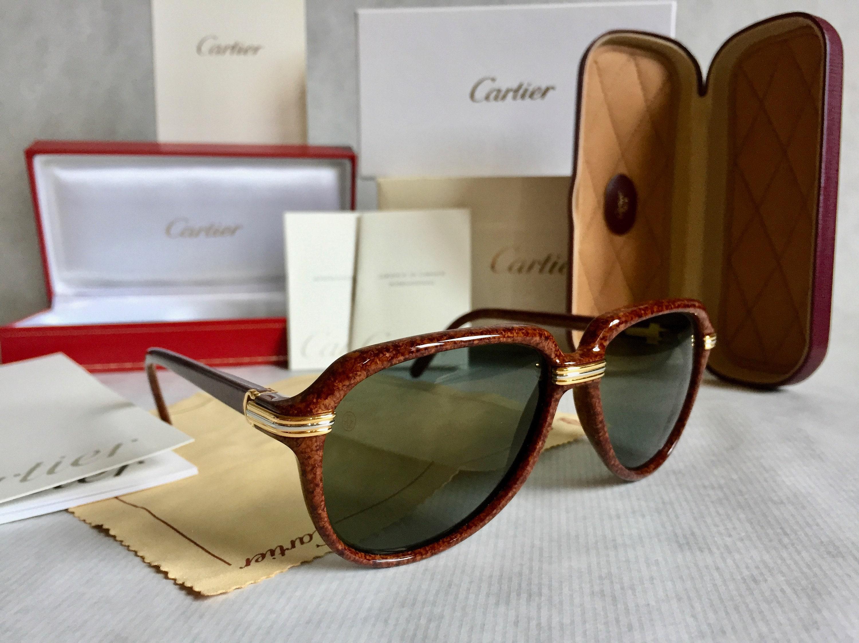 e7fbe3ef44 Cartier Vitesse Vintage Sunglasses - Full Set including 2 Cases - New  Unworn Deadstock. gallery photo gallery photo gallery photo gallery photo  gallery ...