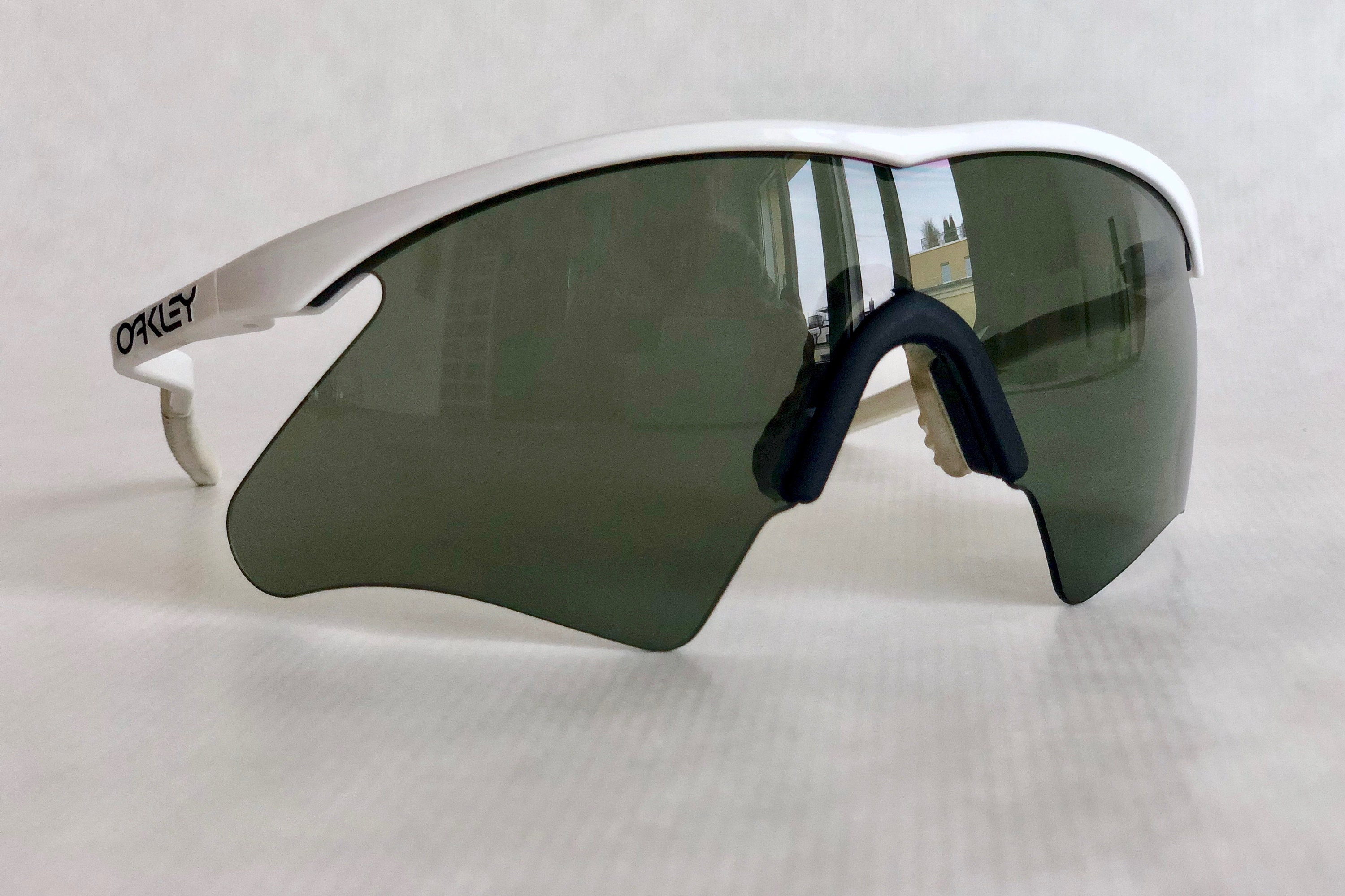 006c8ac627a Oakley M Frame Mumbo with Hammers 1990 Vintage Sunglasses – Full Set  Including Extra Nose Ear Kit – New Old Stock