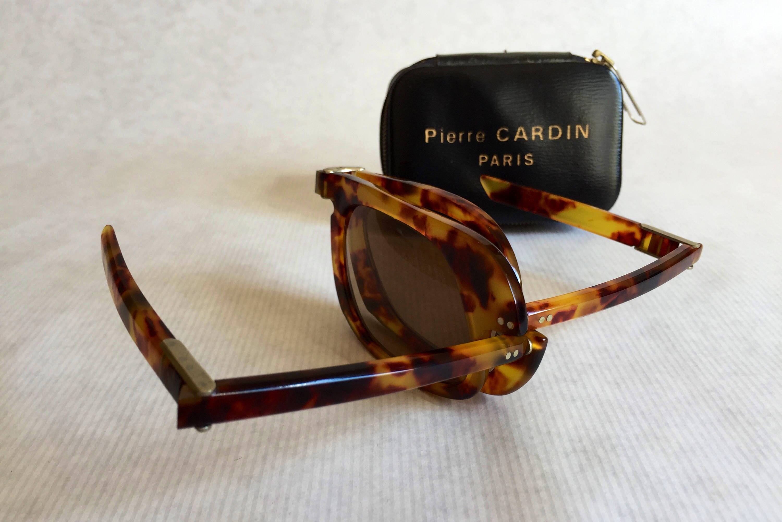 d2272bb1e9 Pierre Cardin Folding Vintage Sunglasses Made in France New Old Stock  including Leather Case