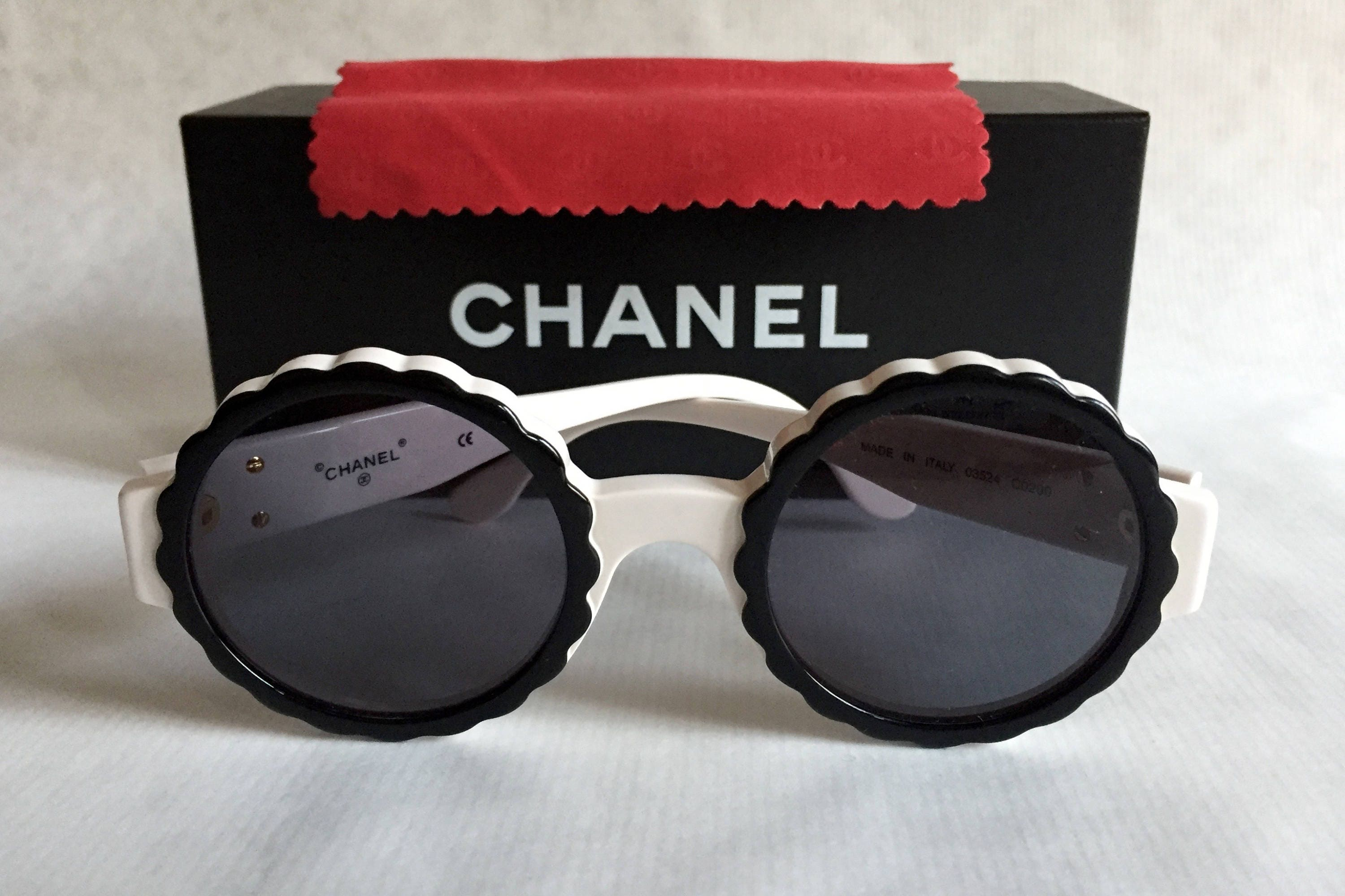59d9cf3a28589 CHANEL 03524 C0200 Vintage Sunglasses New Old Stock including ...