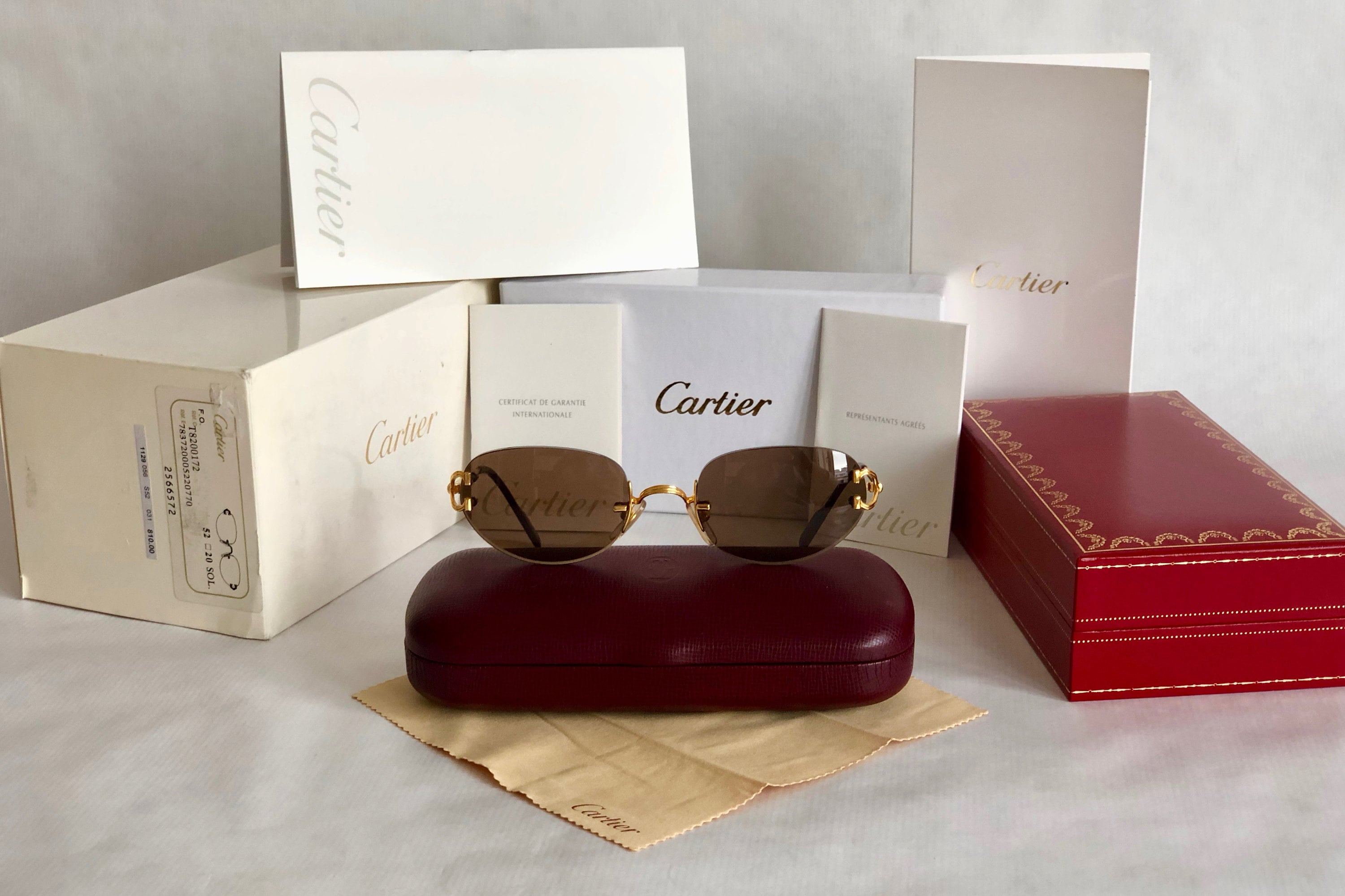 57d72dbe0f Cartier Portofino 22K Gold Vintage Sunglasses – Full Set with 2 Cases – New  Old Stock. gallery photo gallery photo gallery photo gallery photo gallery  photo ...