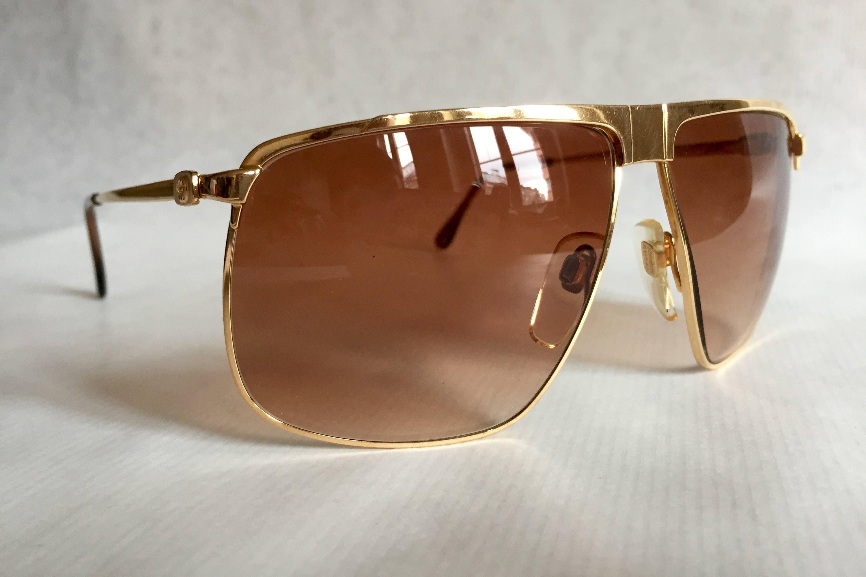 2e8f3926675 GUCCI GG40 22kt Gold Vintage Sunglasses New Old Stock including Original Box