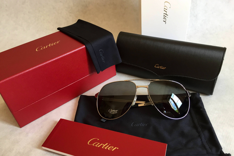 1490e0a2c38 Cartier Santos-Dumont Vintage Sunglasses Full Set New Old Stock. gallery  photo ...