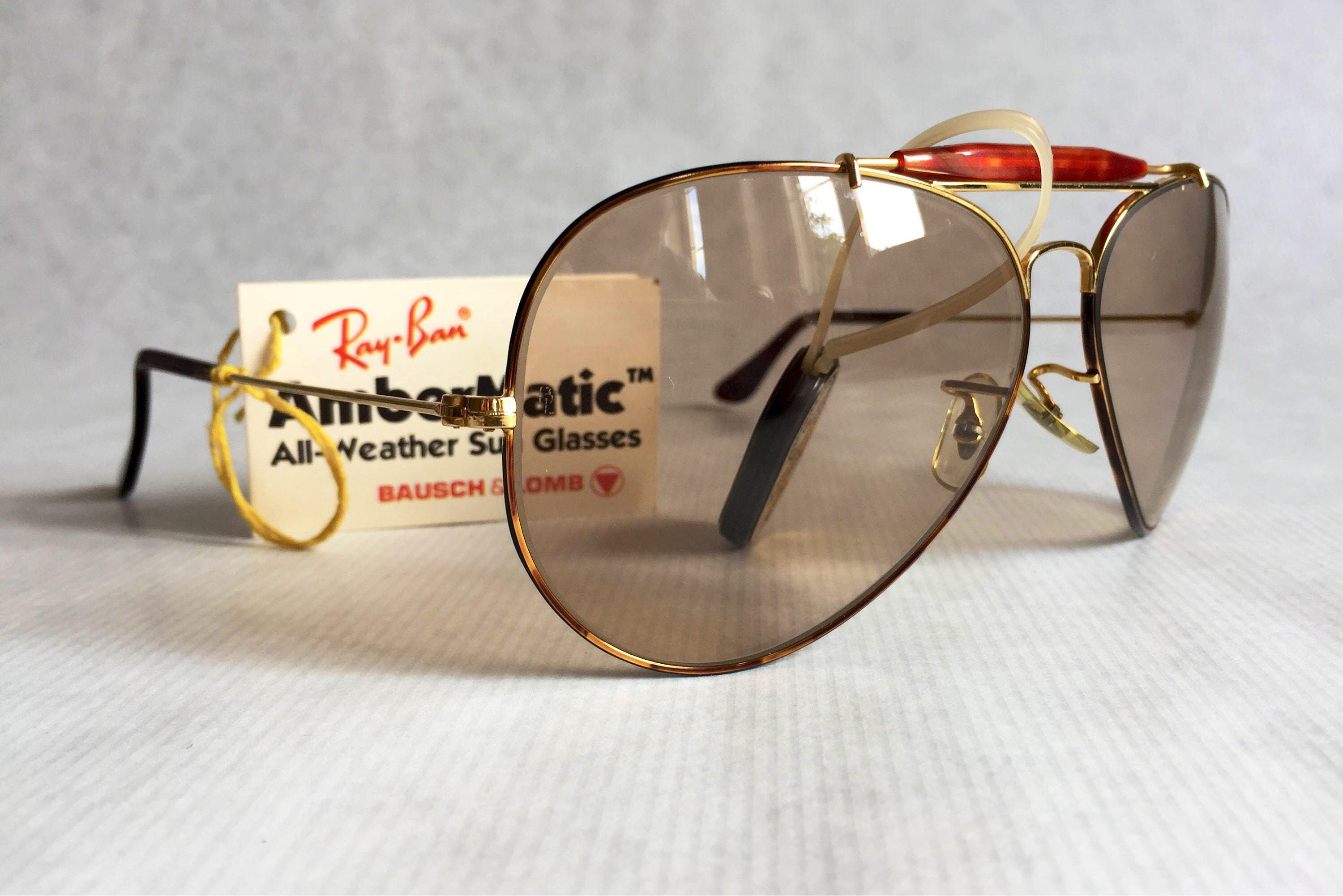 861fdee5be Ray-Ban Outdoorsman Tortuga Ambermatic™ by Bausch   Lomb Vintage Sunglasses  NOS Full Set. gallery photo ...
