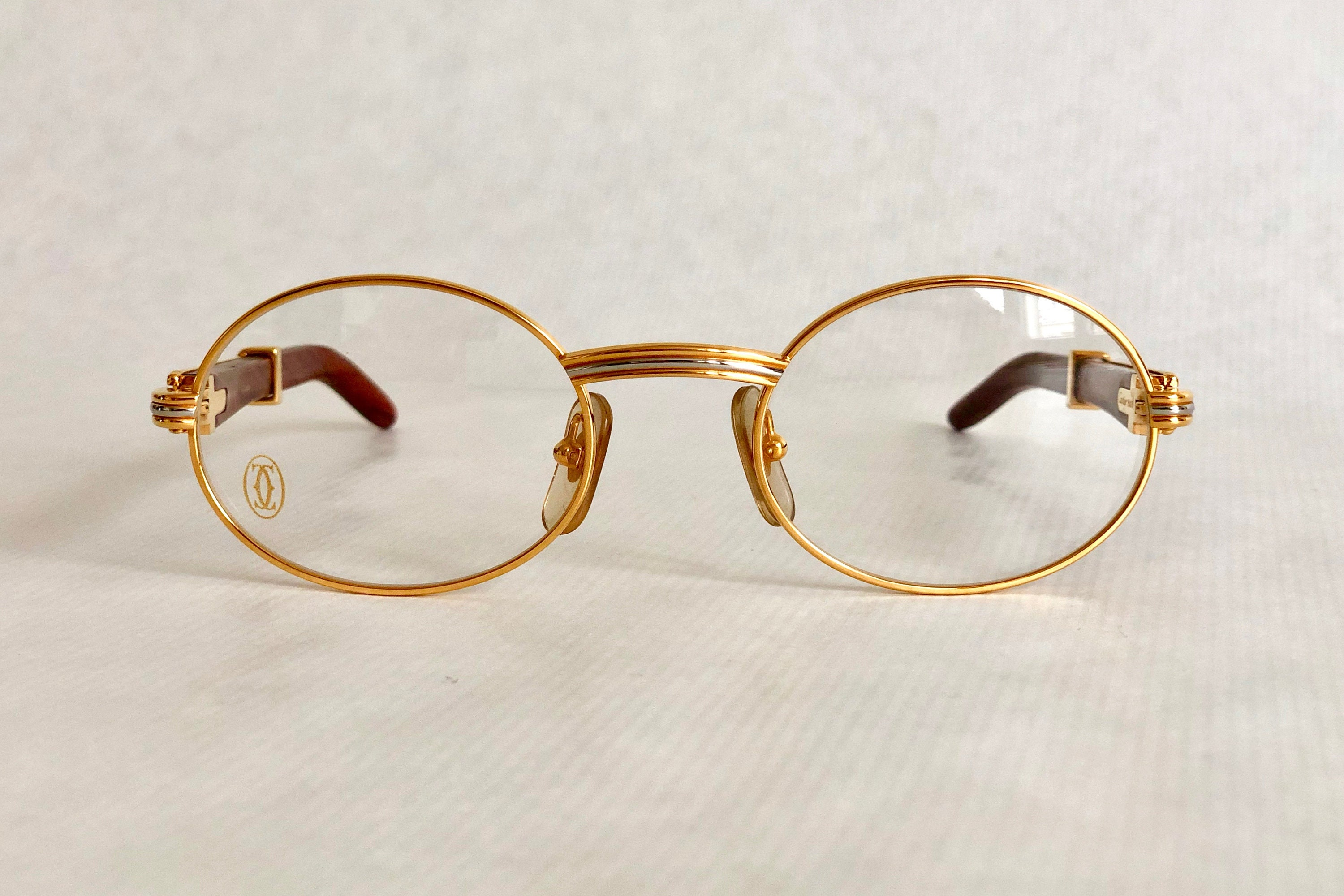 8b35aa395a Cartier Giverny 22k Gold Vintage Glasses – Precious Wood – New Old Stock –  Full Set. gallery photo ...