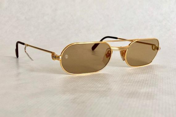 Cartier Must Louis Cartier 22k Gold Vintage Sunglasses Full   Etsy 04e5603f4e82