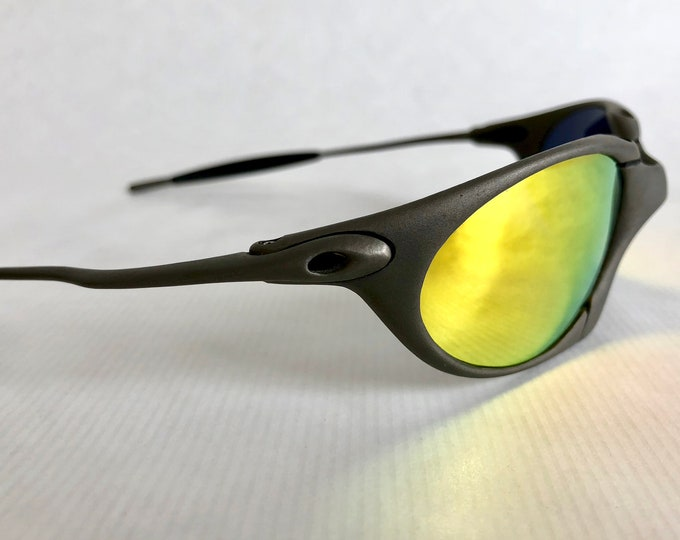 Oakley X Metal Romeo Plasma Vintage Sunglasses including X Metal Soft Vault, Coin and Fuse Lenses