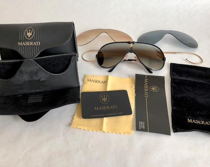 Maserati 6119 50 Vintage Sunglasses - Full Set - New Old Stock