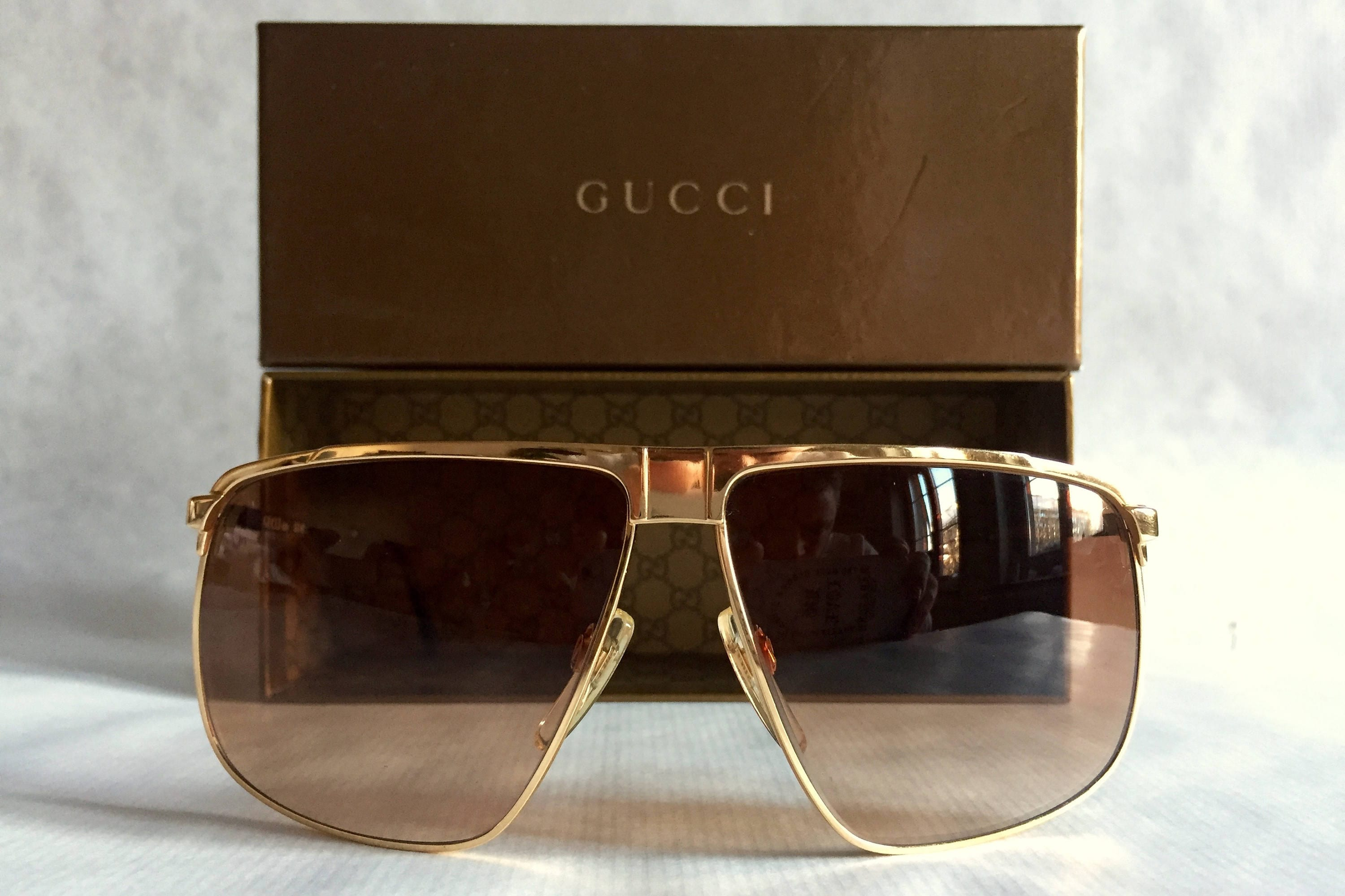 857ea41aefa GUCCI GG40 22kt Gold Vintage Sunglasses New Old Stock including Original  Box. gallery photo gallery photo gallery photo gallery photo gallery photo  ...