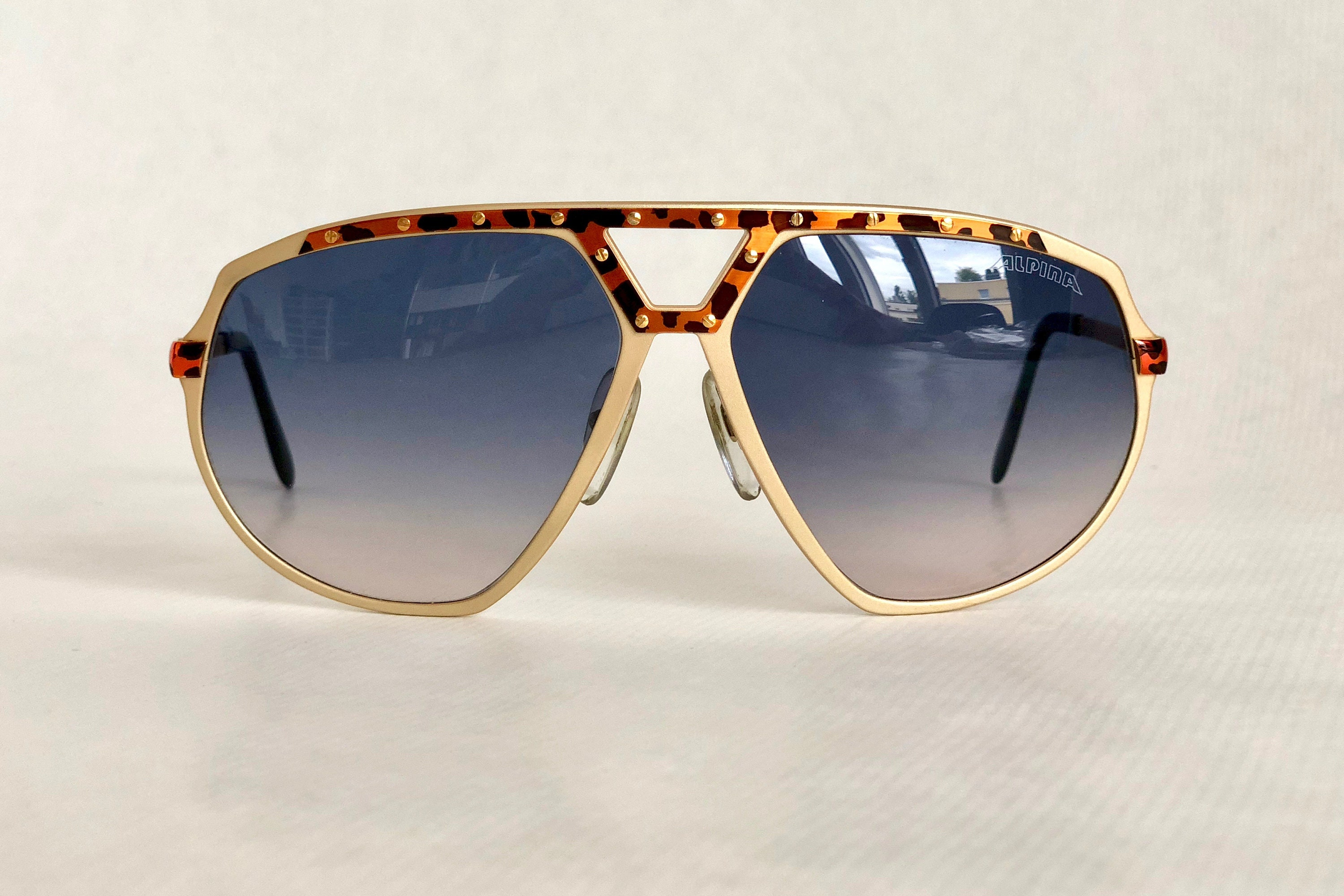 ce9a71c54be6 Alpina M1/8 24K Gold Vintage Sunglasses West Germany New Old Stock Full Set  including Case, Box and Leaflet