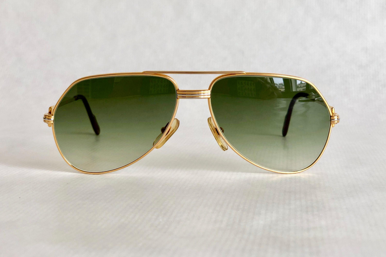 c1bb0aac1c64 Cartier Vendôme Louis Cartier 22k Gold Vintage Sunglasses ...