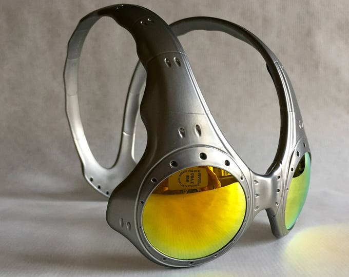 Oakley Overthetop Fire Iridium FMJ+ Vintage Sunglasses New Old Stock including Extra Set of Lenses and Softpouch
