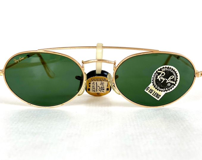 Vintage 1980s Ray-Ban by Bausch & Lomb W1534 Sunglasses – Including Case and Cloth – New Old Stock