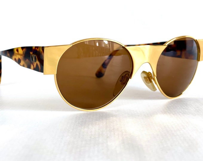 Vintage 1980s Valentino 573 Sunglasses - New Old Stock - Made in Italy