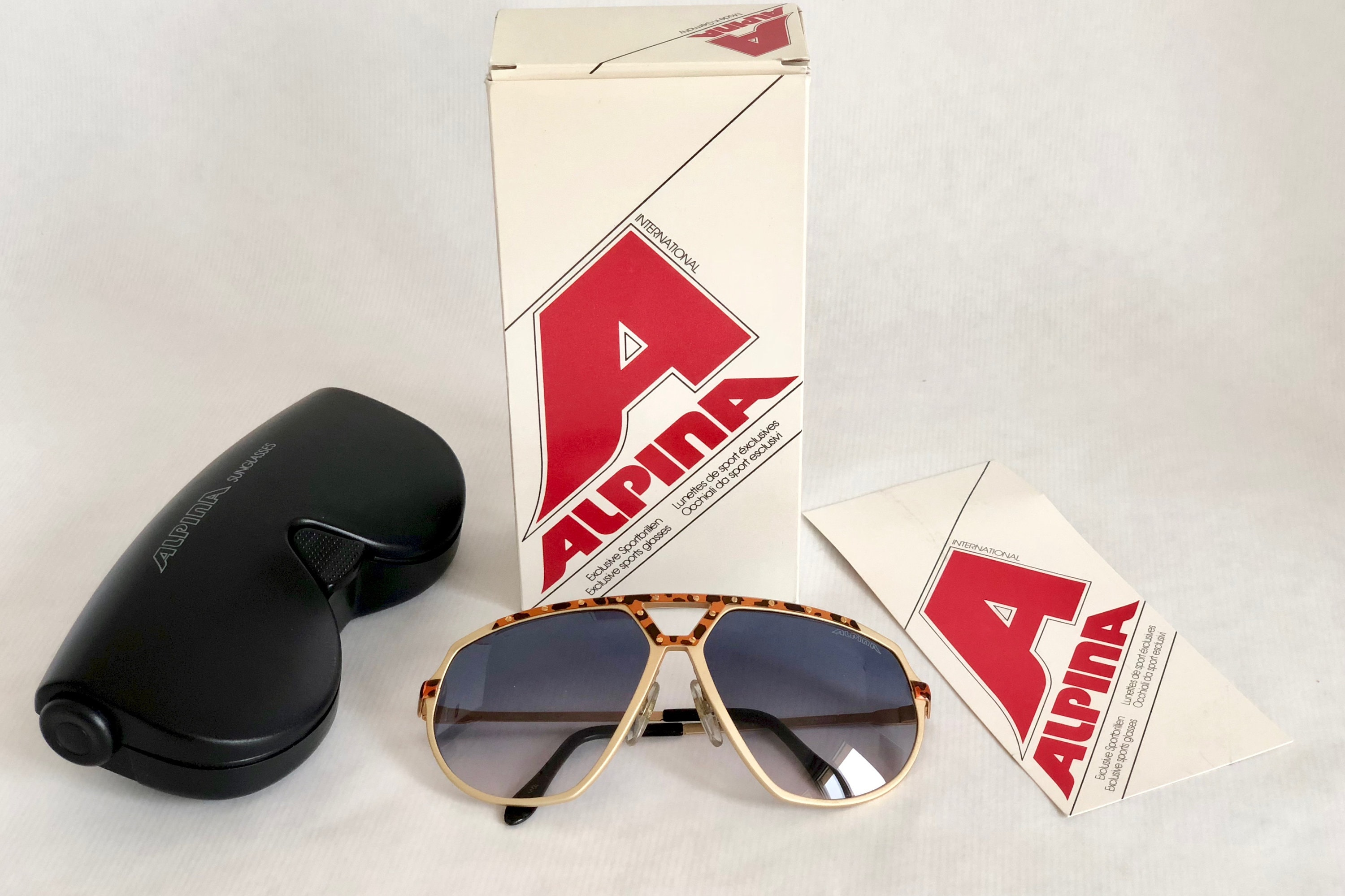 Alpina M1/8 24K Gold Vintage Sunglasses West Germany New ...