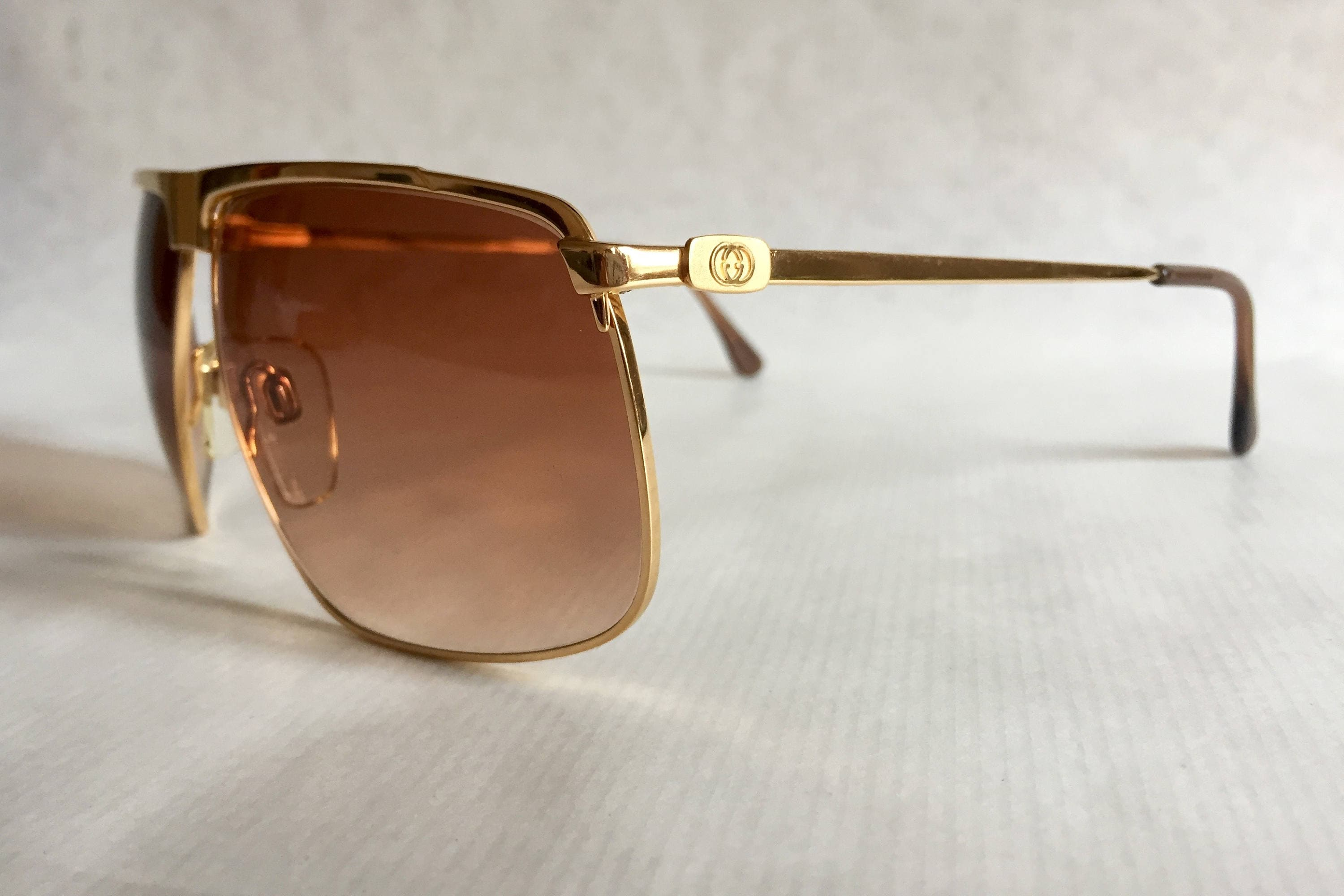 091f3ccd123 GUCCI GG40 22kt Gold Vintage Sunglasses New Old Stock including Original  Box. gallery photo gallery photo gallery photo gallery photo gallery photo  gallery ...