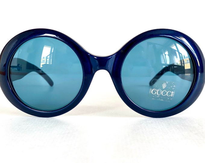 Vintage 1990s GUCCI GG 2401/N/S Sunglasses – New Old Stock – Including Case, Pouch and Cloth