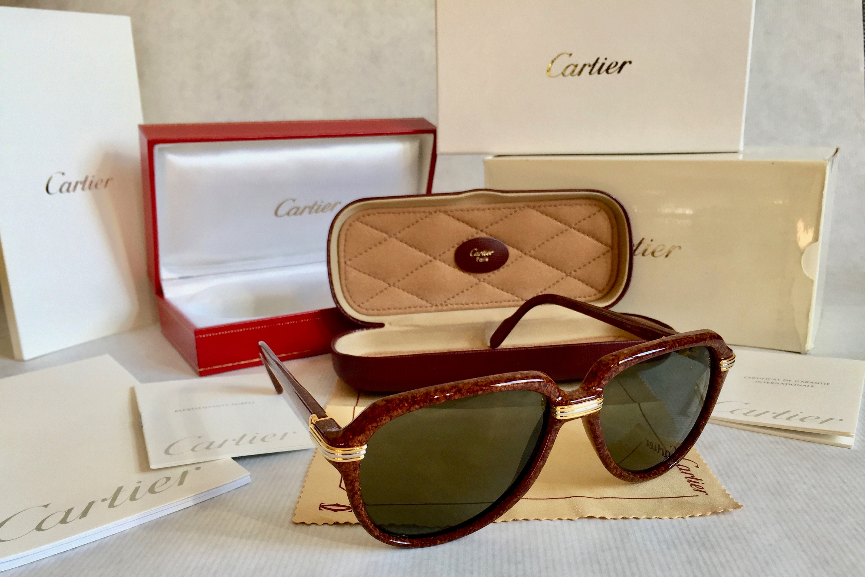 293a6df7dab8 Cartier Vitesse Vintage Sunglasses - Full Set including 2 Cases - New ...