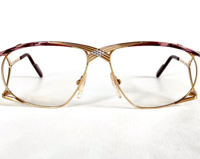 Vintage 1980s Alpina Genesis Project GF96 24K Gold Plated Glasses Made in West Germany New Old Stock