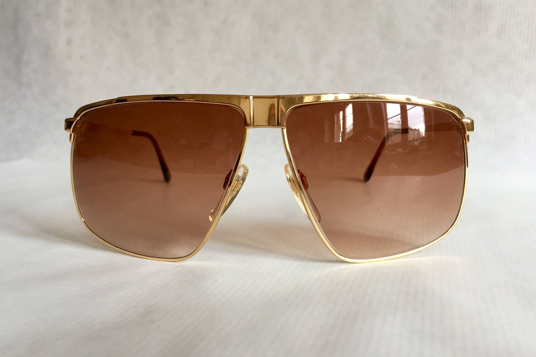 d647a18de5e GUCCI GG40 22kt Gold Vintage Sunglasses New Old Stock including Original  Box. gallery photo ...