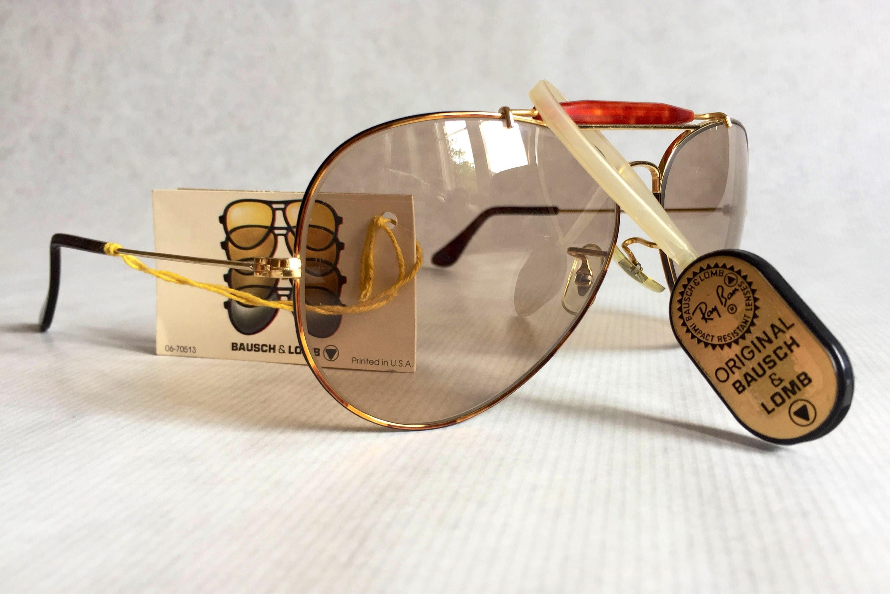 dd1551041b Ray-Ban Outdoorsman Tortuga Ambermatic™ by Bausch   Lomb Vintage Sunglasses  NOS Full Set