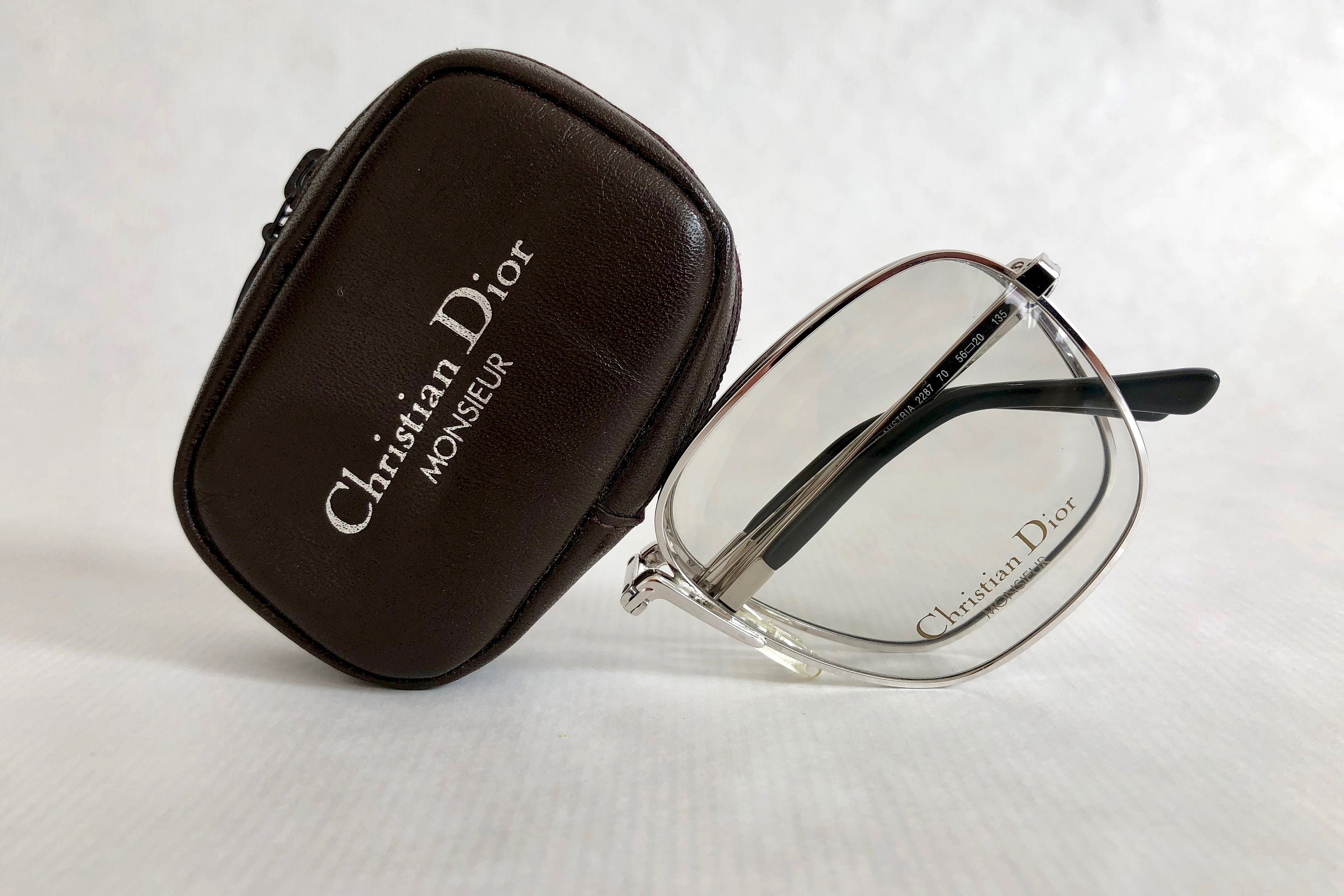 7eaf42526c2 Folding Christian Dior Monsieur 2287 Vintage Glasses New Old Stock with  Original Case. gallery photo ...