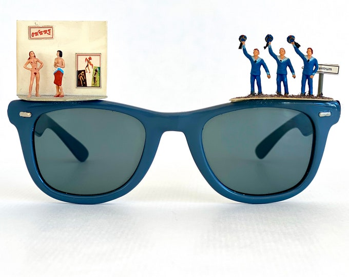 Vintage Sailors Ahoy Sunglasses by Concave Optic Pforzheim – New Old Stock – Handmade in West Germany