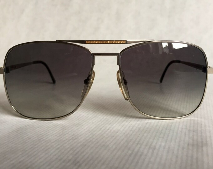 Dunhill 6038 Titanium & 18K Solid Gold Vintage Sunglasses Made in Japan NOS including Case