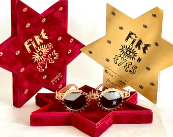 Vintage 1991 Swatch Eyes Fire on Eyes Sunglasses – Full Set – New Old Stock