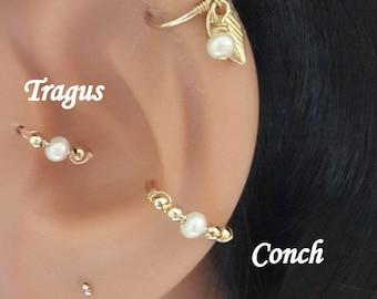 14K Solid Gold Garnet Helix Piercing Holiday Gift 24g 22g 20g 18g 16g January/'s Birthstone Cartilage Earring,Nose,Septum,Tragus Hoop
