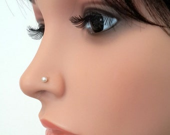 Pearl nose stud   Etsy